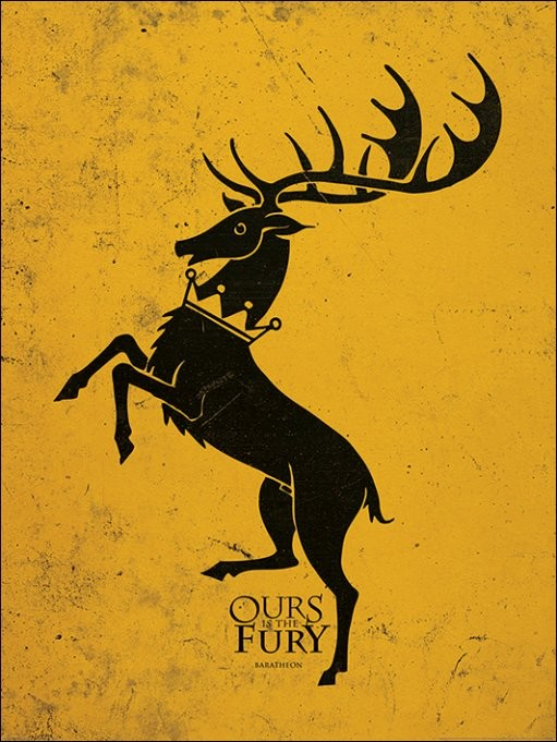 Reprodukce Hra o Trůny - Game of Thrones - Baratheon