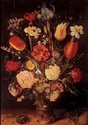 Reprodukce Jan Brueghel mladší - Váza s květinami