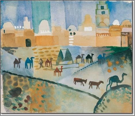 Kairouan I, 1914, Obrazová reprodukcia