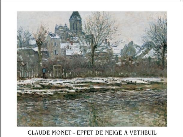 Reprodukce Kostel ve Vétheuil pod sněhem, 1878