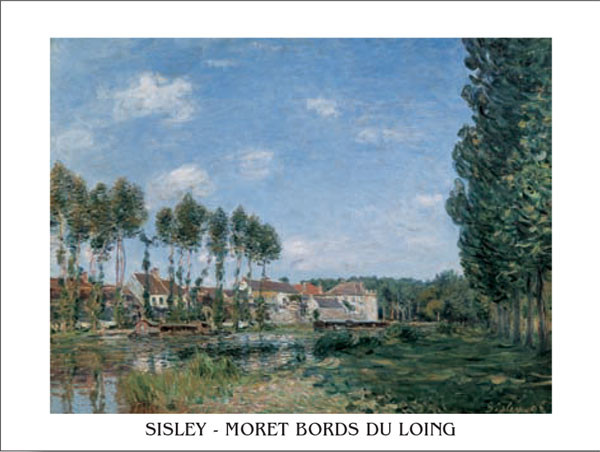 Reprodukce Moret, břehy Loing