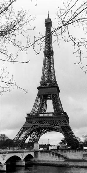 Reprodukce Paříž - Eiffelovka, Eiffelova věž