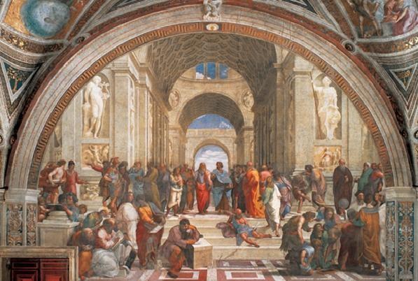 Reprodukce Rafael Santi - Škola v Aténách, 1509
