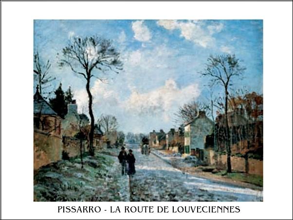 Reprodukce Silnice v Louveciennes