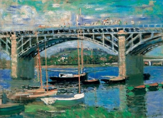 The Bridge at Argenteuil, 1874, Obrazová reprodukcia