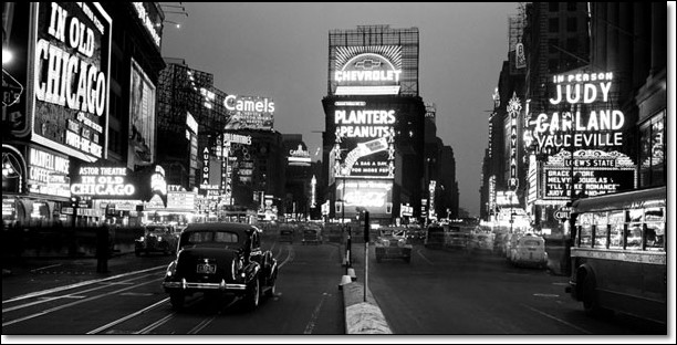Reprodukce Times Square 1938