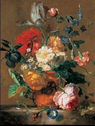 Reprodukce Váza s květinami