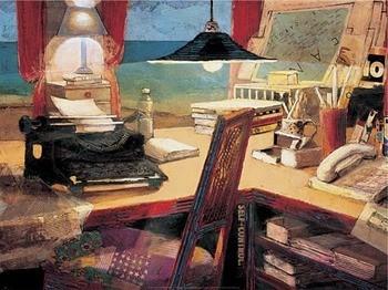 Writer's Desk II, Obrazová reprodukcia
