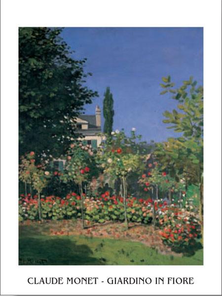 Reprodukce Zahrada v květu v Saint Adresse, 1886