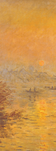 Reprodukce Západ slunce nad Seinou v Lavacourt (část)