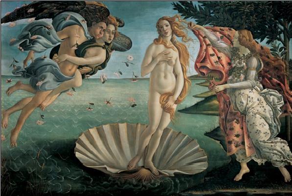 Reprodukce Zrození Venuše