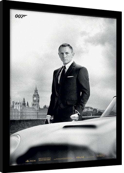 Zarámovaný plagát James Bond (Skyfall) - Bond & DB5