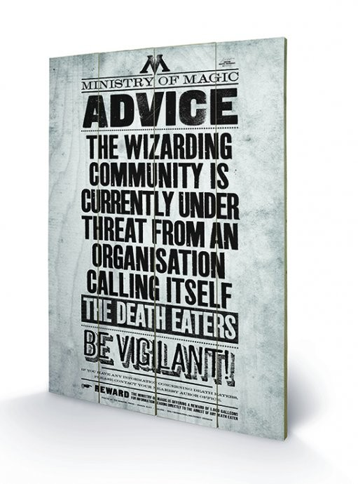 Obraz na dreve Harry Potter - Be Vigilant