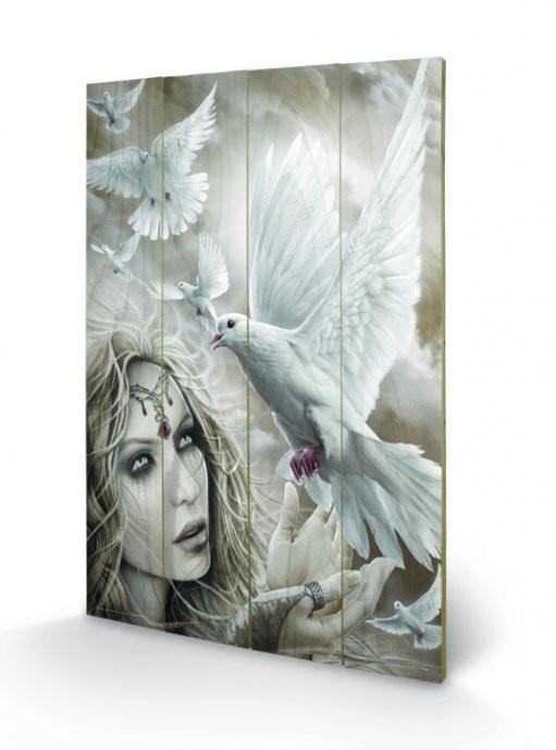 Obraz na dreve Spiral - Doves of Peacel