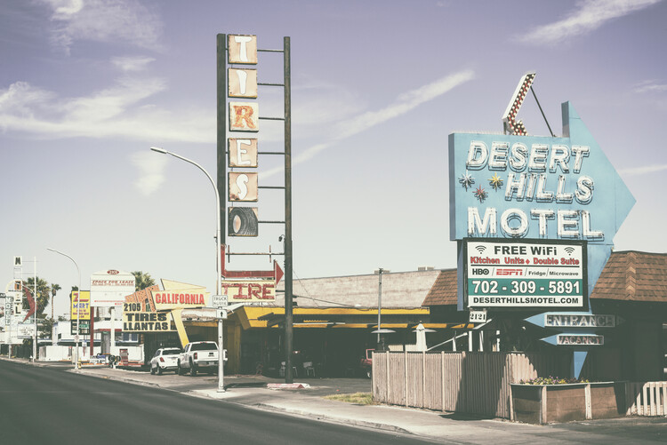Obraz na plátně American West - Old Vegas