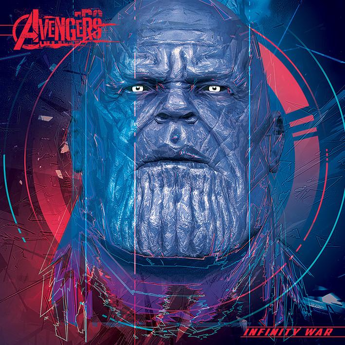 Obraz na plátně Avengers Infinity War - Thanos Cubic Head