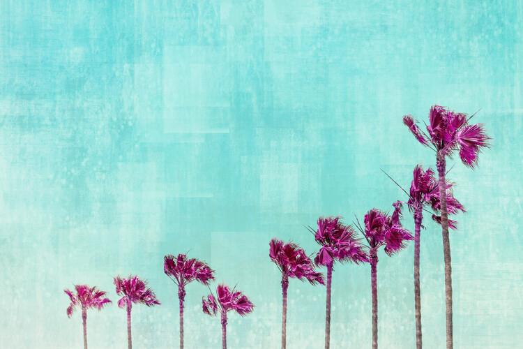 Obraz na plátně California Vibes In Psychadelic Colors