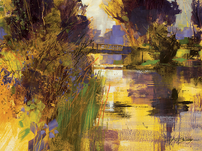 Obraz na plátně Chris Forsey - Bridge & Glowing Light