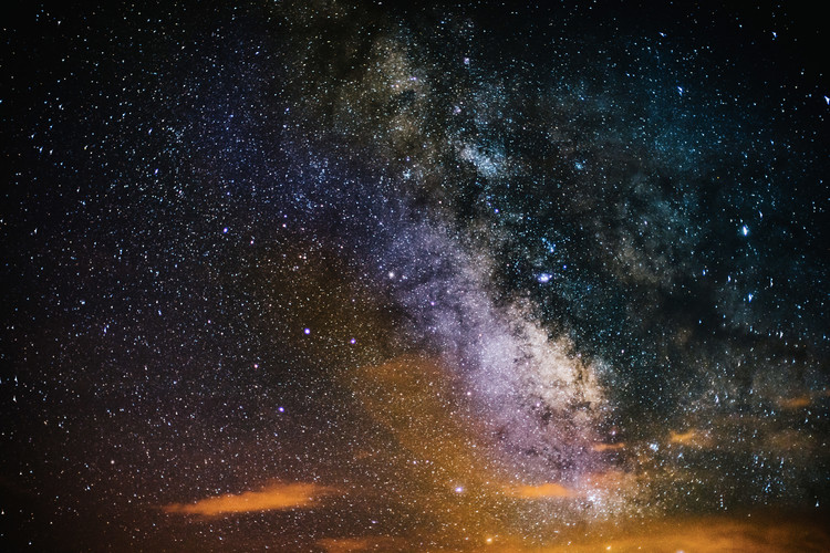 Obraz na plátně Details of Milky Way of St-Maria multicolour graded II