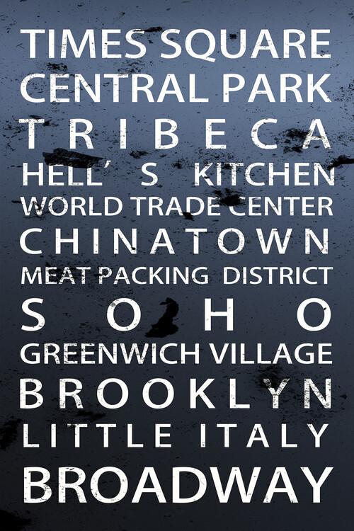 Obraz na plátně Districts NY