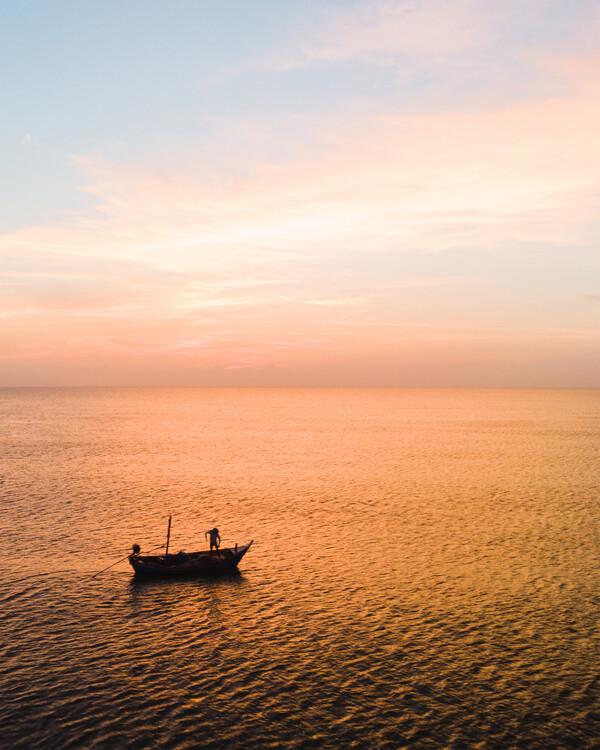 Obraz na plátně Early Fishing
