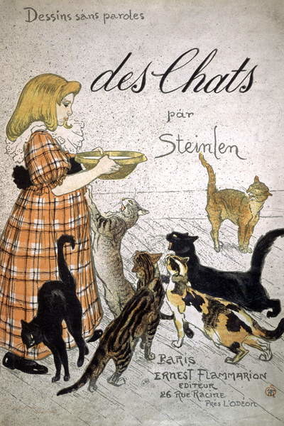 Obraz na plátně Front cover of 'Cats, Drawings Without Speech'