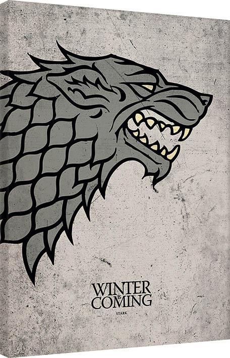 Obraz na plátně Hra o Trůny (Game of Thrones) - Stark