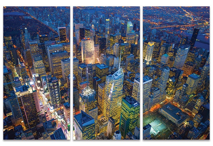 Obraz na plátně Jason Hawkes - New York Evening