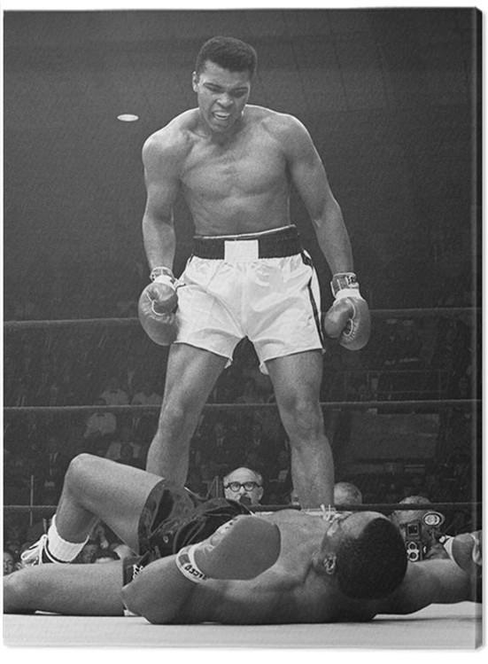 Obraz na plátně Muhammad Ali - Ali vs Liston Portrait