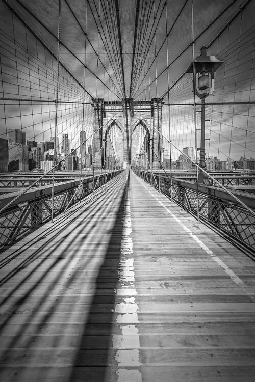 Obraz na plátně NEW YORK CITY Brooklyn Bridge