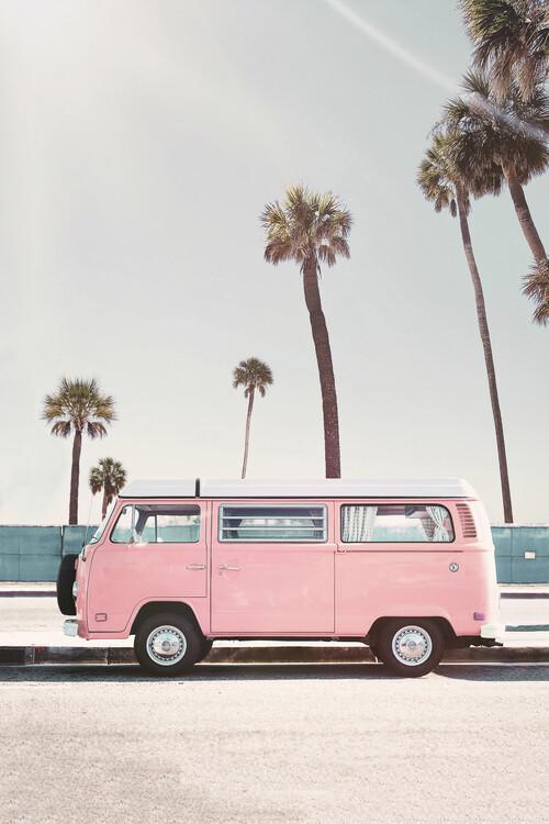 Obraz na plátně Pink van