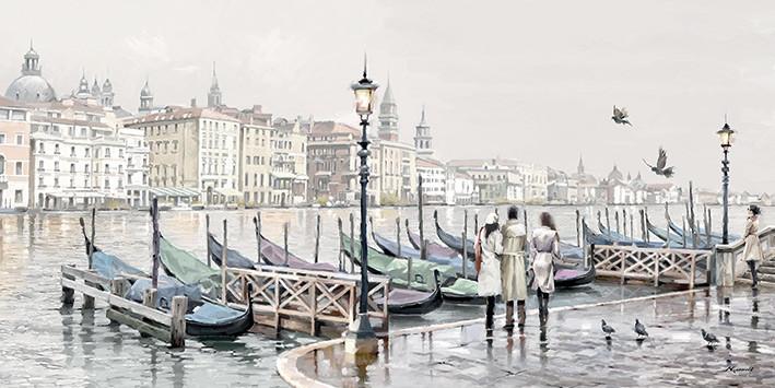 Obraz na plátně Richard Macneil - Quayside, Venice