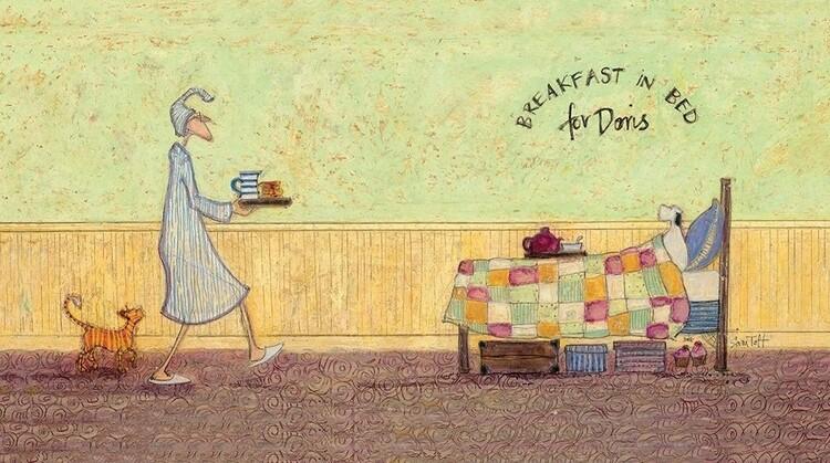 Obraz na plátně Sam Toft - Breakfast in bed for Doris