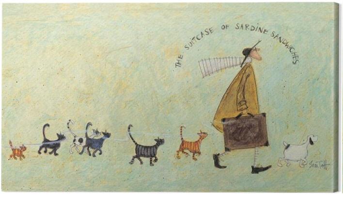 Obraz na plátně Sam Toft - The suitcase of sardine sandwiches