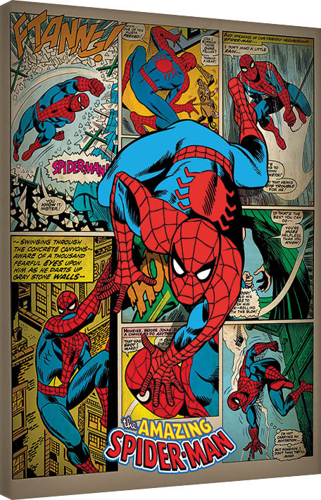 Obraz na plátně Spider-Man - Retro