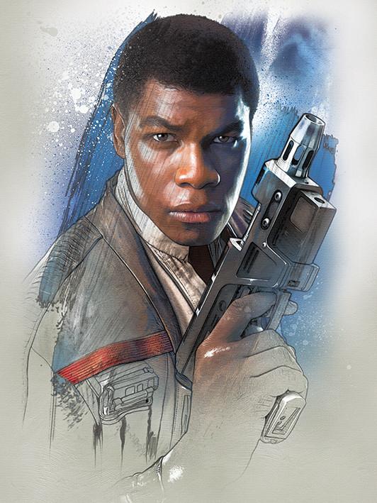 Obraz na plátně Star Wars: Poslední z Jediů - Finn Brushstroke