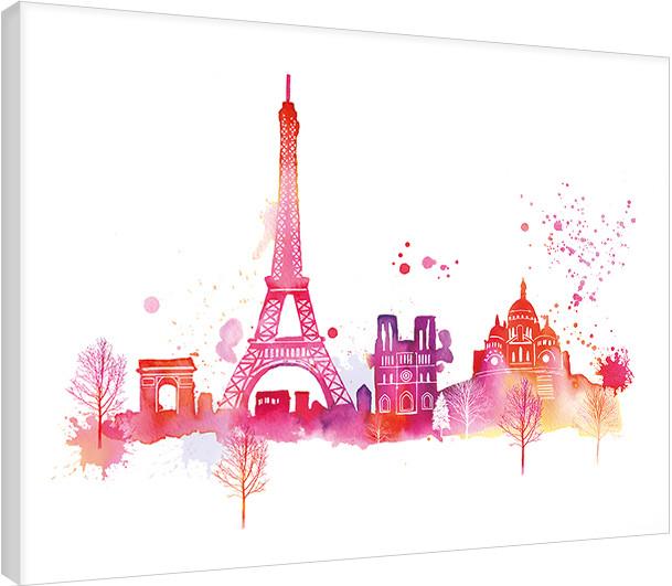 Obraz na plátně Summer Thornton - Paris Skyline