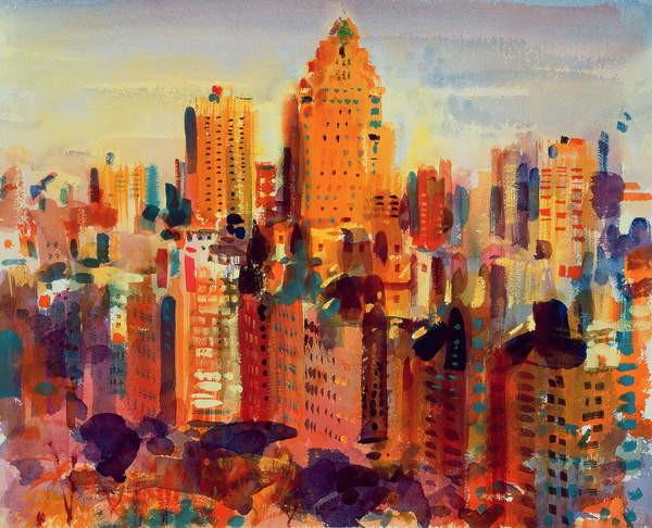 Obraz na plátně Upper Manhattan, 2000