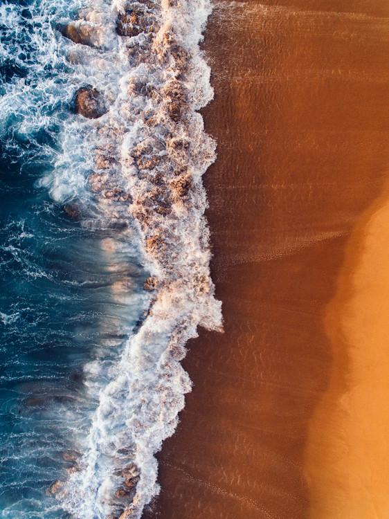 Obraz na plátně Water arrive to sand
