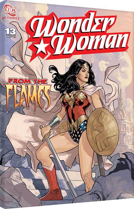Obraz na plátně Wonder Woman - From The Flames
