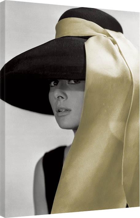 Obraz na plátně  Audrey Hepburn - Hat
