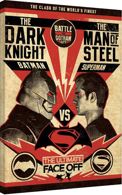 Obraz na plátně Batman V Superman - Showdown