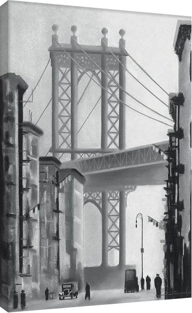 Obraz na plátně  David Cowden - Manhattan Morning
