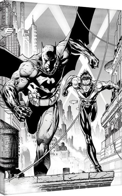 Obraz na plátně  DC Comics - Batman & Nightwing