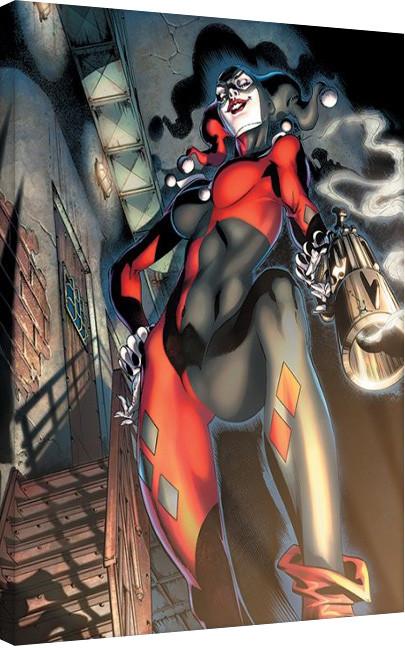 Obraz na plátně  Harley Quinn - Gun Smoke