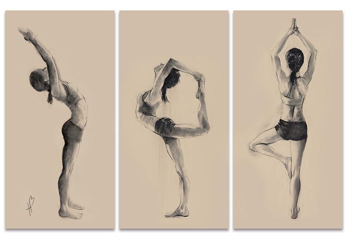 Obraz na plátně Hazel Bowman - Yoga Series