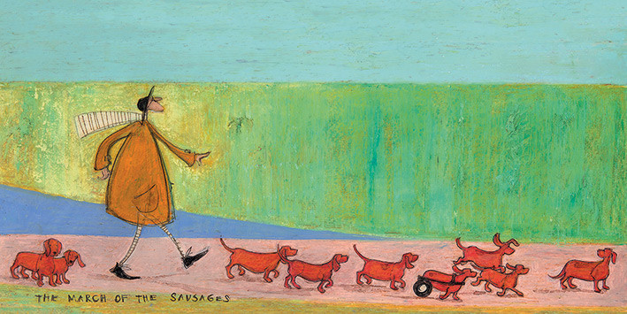 Obraz na plátně Sam Toft - The March of the Sausages