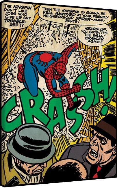 Obraz na plátně  Spiderman - Crash