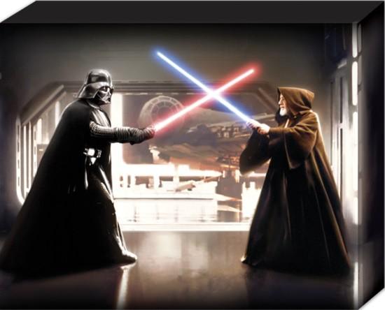Obraz na plátně Star Wars - Vader vs Obi Wan