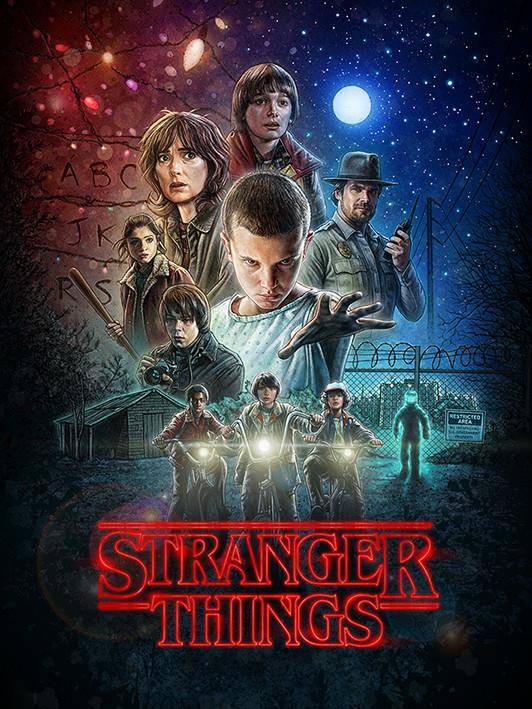 Obraz na plátně  Stranger Things - One Sheet
